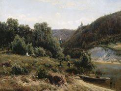 The Monastery   Ivan Ivanovich Shishkin   Oil Painting