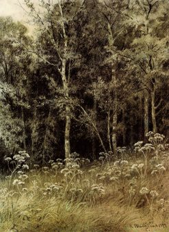 Flowers in the Forest | Ivan Ivanovich Shishkin | Oil Painting