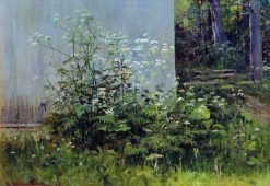 Flowers by the Fence | Ivan Ivanovich Shishkin | Oil Painting