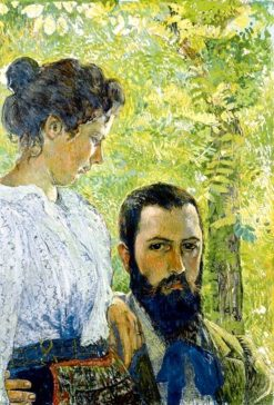 Self-portrait with his wife | Cuno Amiet | Oil Painting