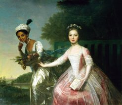 Portrait of Dido Elizabeth Belle Lindsay and her cousin Lady Elizabeth Murray | Johann Zoffany | Oil Painting