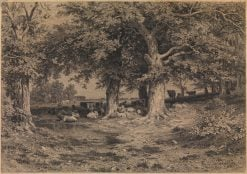 Cows and Sheep at a Watering Place | Ivan Ivanovich Shishkin | Oil Painting