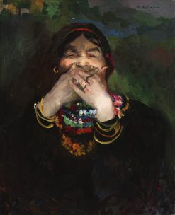 Laughing Woman | Filipp Andreevich Maliavin | Oil Painting