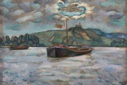 Barges on the River Don | Vladimir Baranoff-Rossine | Oil Painting
