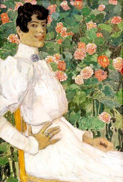 A Spanish Woman in White | Alexander Golovin | Oil Painting