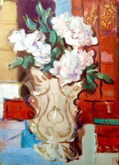 Peonies in a Vase | Alexander Evgenievich Yakovlev | Oil Painting
