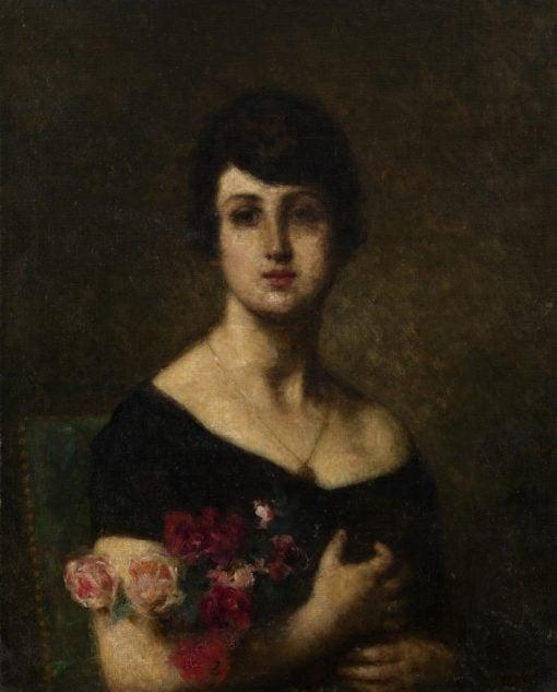 Female Portrait   Alexei Harlamoff   Oil Painting