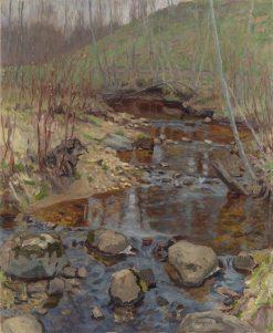 Forest Stream | Nikolai Petrovich Bogdanov-Belsky | Oil Painting