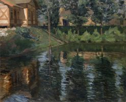 Pond by the Manor House | Sergei Arsenevich Vinogradov | Oil Painting