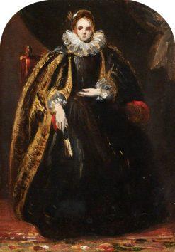 Woman in a Black Dress   Robert McInnes   Oil Painting