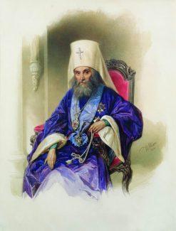Portrait of Archpriest Filaret | Vladimir Hau | Oil Painting