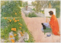Bridge | Carl Larsson | Oil Painting