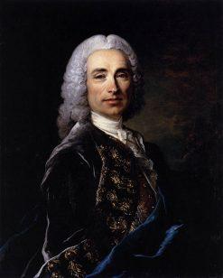 Portrait of Marquis de Lucker | Louis Tocque | Oil Painting
