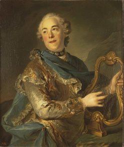 Portrait de Pierre de Jelyotte as Apollo | Louis Tocque | Oil Painting