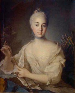 Portrait of Anna Stroganova | Louis Tocque | Oil Painting