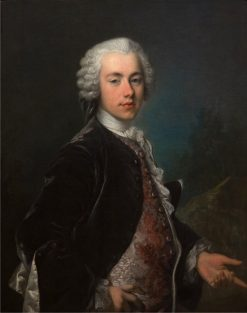 Portrait of Frederik Berregaard | Louis Tocque | Oil Painting