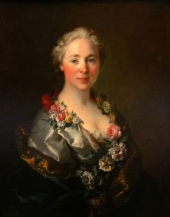 Portrait of Countess Lomenie de Brienne | Louis Tocque | Oil Painting