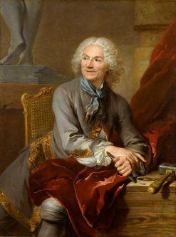 Portrait of Sculptor Jean Louis Lemoyne | Louis Tocque | Oil Painting