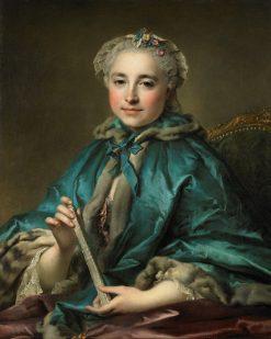 Madame de Livry   Louis Tocque   Oil Painting