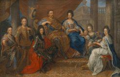John III Sobieski with his family | Henri Gascar | Oil Painting