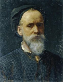 Self Portrait   Friedrich Alois Schönn   Oil Painting