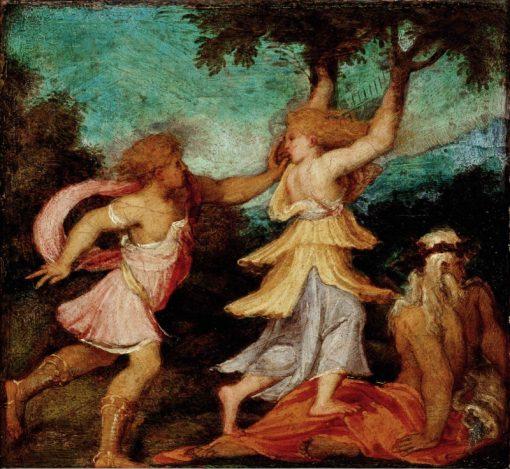 Apollo and Daphne | Andrea Schiavone | Oil Painting