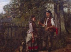 A Wayside Gossip | William Edward Millner | Oil Painting