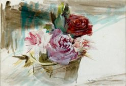 Bouquet de roses | Giovanni Boldini | Oil Painting