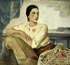 Portrait of a Seated Woman | Boris Grigoriev | Oil Painting