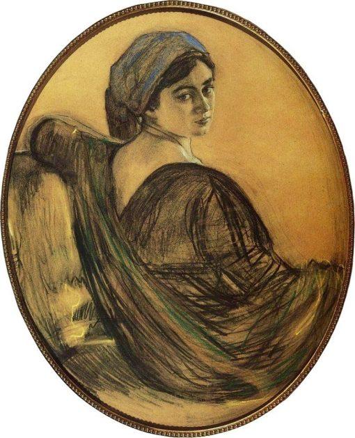 Portrait of Henrietta Girshman | Valentin Serov | Oil Painting