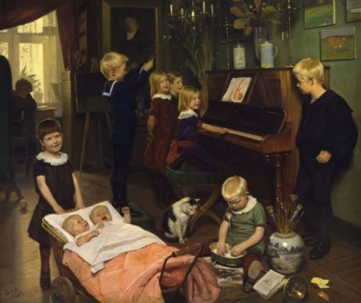 Concert | Carl Otto Haslund | Oil Painting