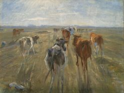 Long Shadows. Cattle on the Island of Saltholm | Theodor Philipsen | Oil Painting