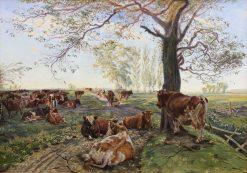 Pasture in Dyrehavegard | Theodor Philipsen | Oil Painting