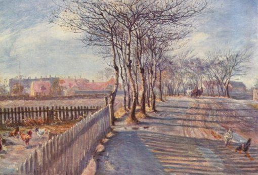 Alley in Kastrup | Theodor Philipsen | Oil Painting