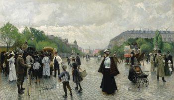 Whats going on in Copenhagen?   Paul-Gustave Fischer   Oil Painting