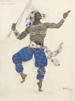 Costume Design for Ballet Hindou | Leon Bakst | Oil Painting