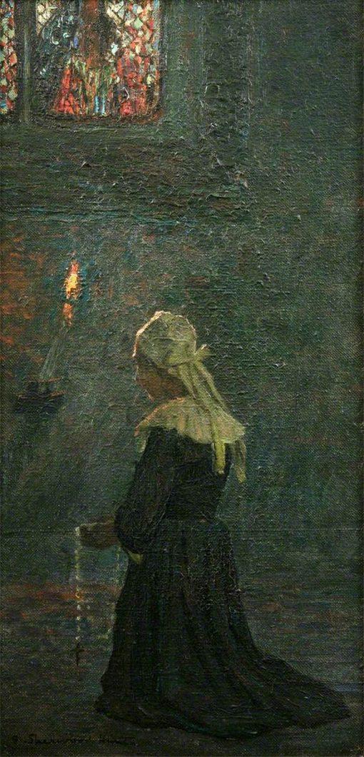 At Prayer   George Sherwood Hunter   Oil Painting