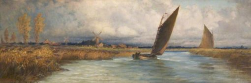 Sailing Barges   Emily Mary Osborn   Oil Painting