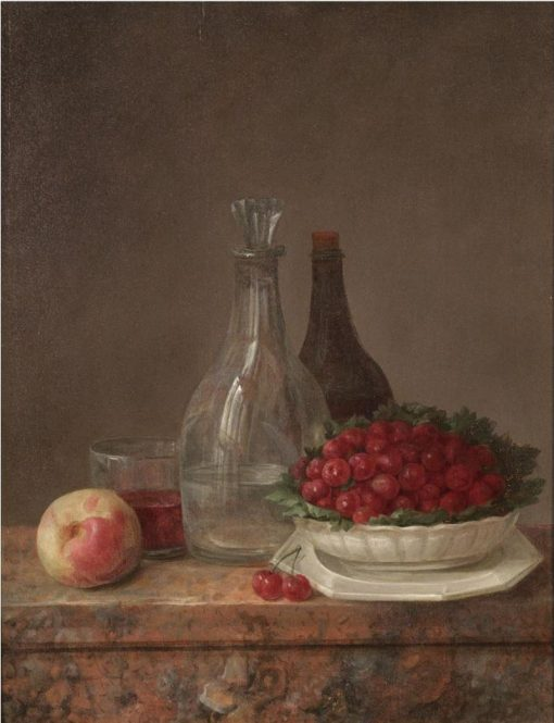 A Still Life With A Bowl Of Cherries
