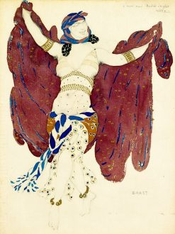 Costume design for a Syrian dancer in Cleopatra | Leon Bakst | Oil Painting