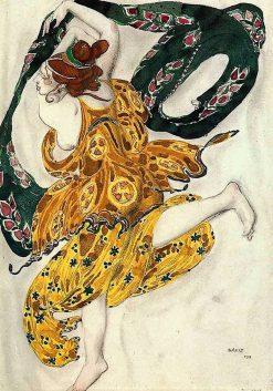 Costume design for Alexander Tcherepnins Narcisse | Leon Bakst | Oil Painting