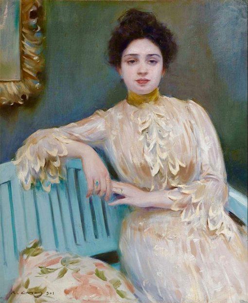 Portrait of Mercedes Llorach | Ramon Casas y Carbó | Oil Painting