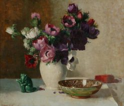 Anemones | Edward Hartley Mooney | Oil Painting