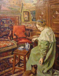 Interieur datelier a la chatte siamoise | Georges-Daniel de Monfreid | Oil Painting