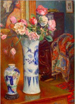 Vases de roses | Georges-Daniel de Monfreid | Oil Painting