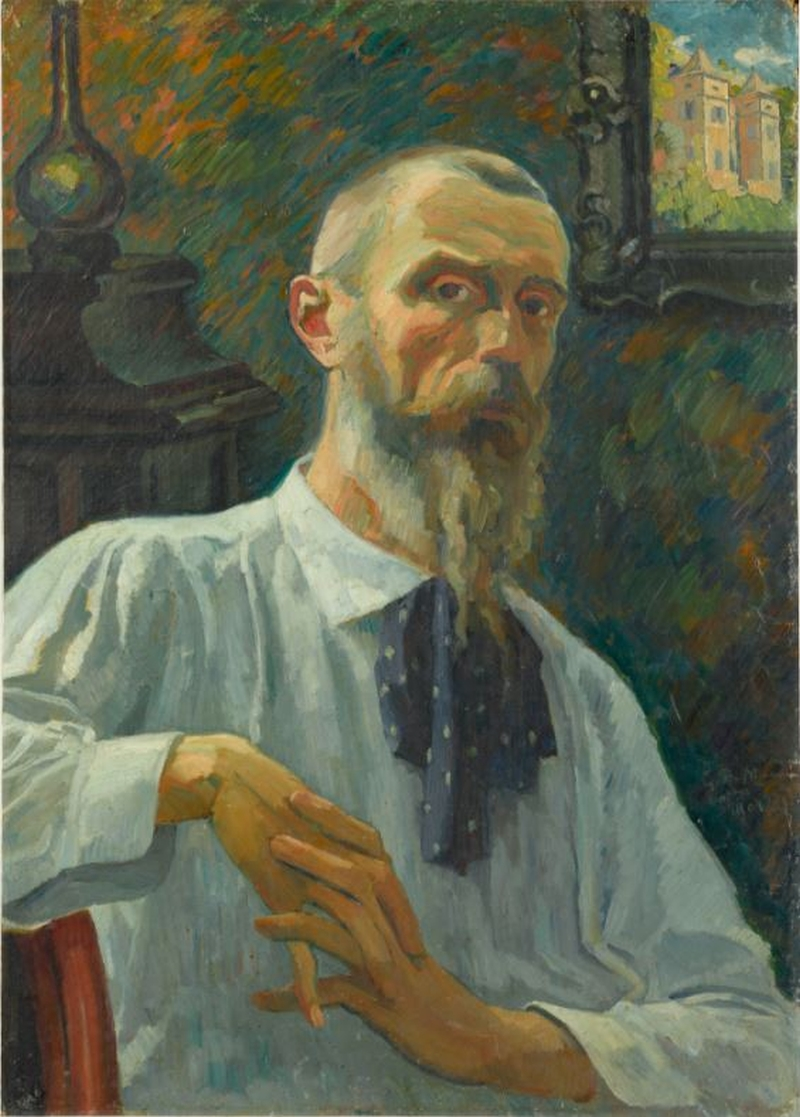Homme a la chemise bleue Painting | Georges-Daniel de Monfreid Oil Paintings