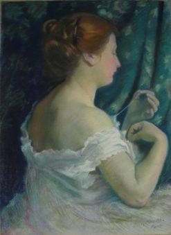 Portrait dAnne Belfis | Georges-Daniel de Monfreid | Oil Painting