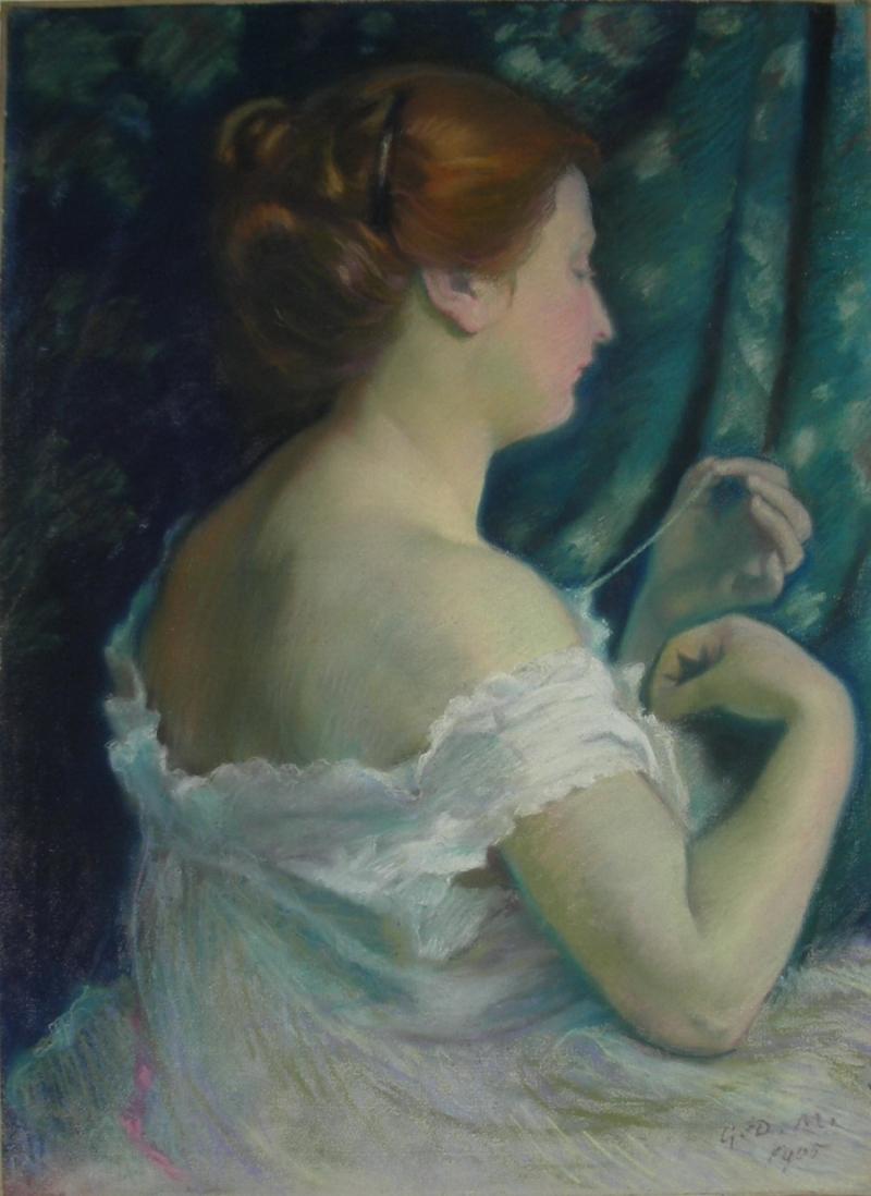 Portrait dAnne Belfis Painting | Georges-Daniel de Monfreid Oil Paintings