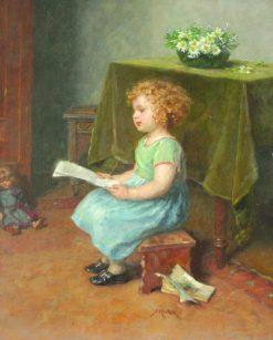 A good read | Simon Glucklich | Oil Painting