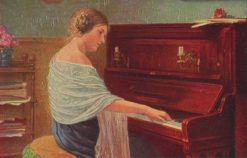 Woman at the Piano | Simon Glucklich | Oil Painting